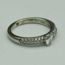 Vand Inel aur alb 18k cu diamante